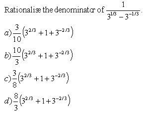 Rationalize the Denominator  III  High School Mathematics  kwizNET Math/Science/English