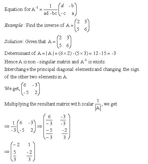 Algebra 2 Worksheets | Matrices Worksheets