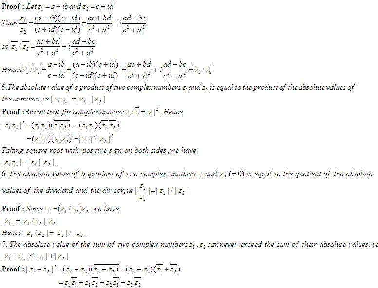 Some Properties of Complex Numbers - High School Mathematics - 2 ...