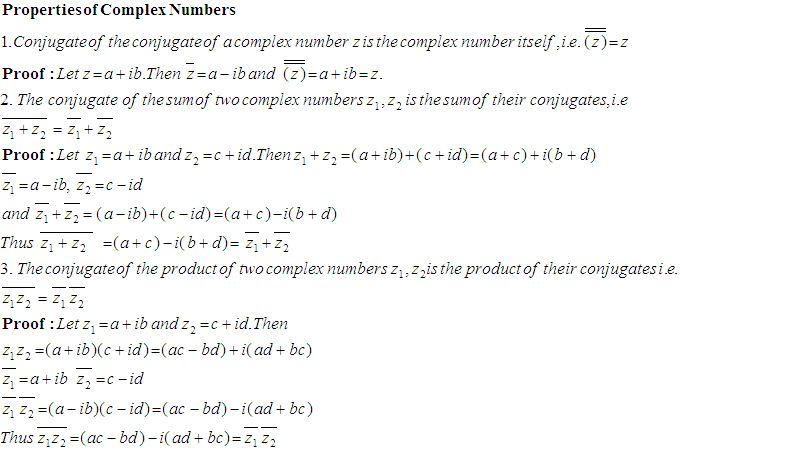 Some Properties of Complex Numbers High School Mathematics 2 – Complex Number Worksheet